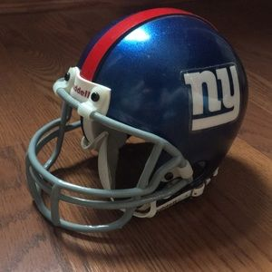 Collectors NFL helmet of the New York Giants